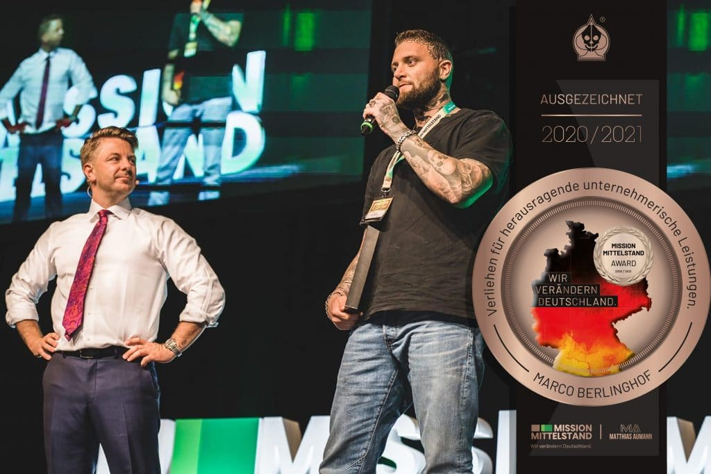 Mission Mittelstand - Award - Auszeichnung - Für - Marco - PikAss - Tattoo - PikAss Tattoo - Studio - Tattoostudio - Unternehmer - Coach - Berater - Leistungen